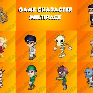 game characters multi pack