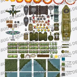 world war game assets
