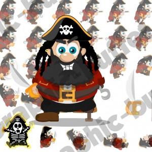 Pirate Video Game Character Graphic